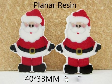 5 X 33MM SANTA CHRISTMAS XMAS LASER CUT FLAT BACK RESIN HEADBANDS BOWS CARD MAKING PLAQUES